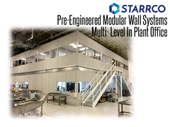 Two story in-plant offices based on Starrco Modular offices can be constructed in 2 story configurations to free up floor space, using the lower area for storage, perhaps and creating a custom, 2-story modular in plant office using both levels.