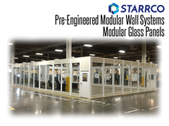 Portable, modular break rooms make terrific in-plant offices; a Starrco portable enclosure can be used in a variety of ways including break rooms for employees.
