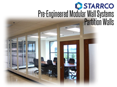 Starrco and Thomas Conveyor can help your company redesign office, or industrial or warehouse workspaces to meet the newly formed guidelines and keep your workforce safe and comfortable. We can help you get back to work quickly with social distancing offices and modular partition walls.