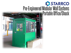 A guard house (or a similar guard booth or security portable guard shack) can be used to control security for employees or attendees at stadiums, theme parks, manufacturing facilities, fueling stations, or anywhere a secure entry point is necessary.
