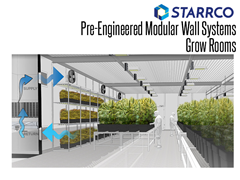 Starrco manufactures premium commercial grow rooms for medical and recreational cannabis cultivation. Our indoor grow rooms are manufactured and installed 75 percent faster than conventional construction methods.