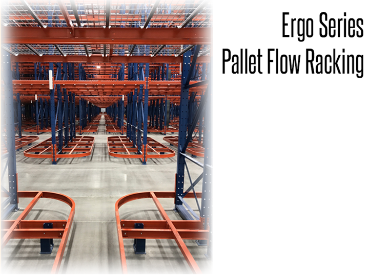 The Ergo™ Series Selective Pallet Rack provides easy access to hard to reach carton on lower shelves by creating an opening between pallet locations.