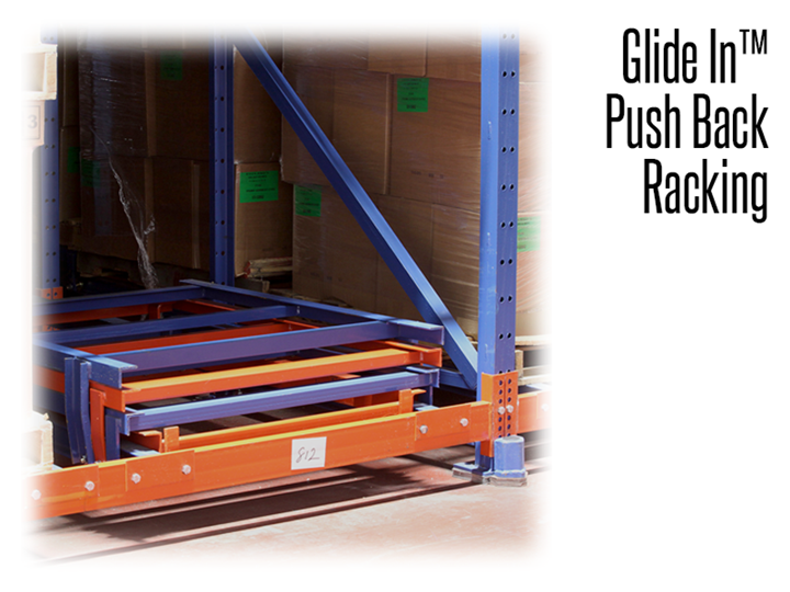 All carts have welded cross members to support weak or damaged pallets. The carts envelop each other to make each cart readily accessible at the aisle face.