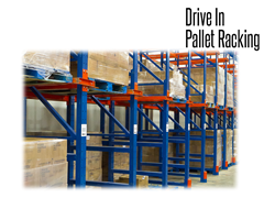 Drive-In storage systems provides a greater capacity in existing cubic space than any other storage method.