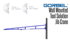 Wall mounted tool solution jib cranes are perfect for tight work spaces.