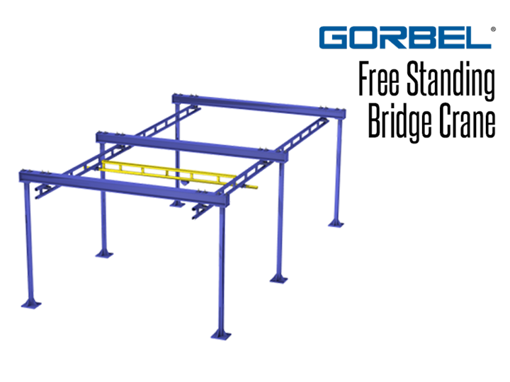 Bridge cranes cover rectangular work areas.  Work station bridge cranes can be adapted into systems with the additional of extra monorail tracks, curves and transfers.