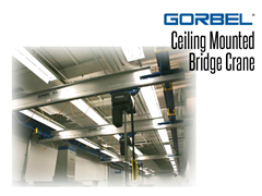 With ceiling mounted systems, supporting steel does not interfere with the handling operation. Ceiling Mounted Systems require a building with an adequate overhead structure to hang the crane.