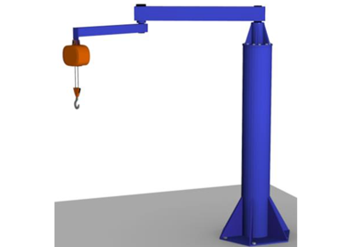 Gorbel™ Free Standing Articulating Jib Crane -  The Free Standing Articulating Jib Crane is perfect for applications that demand the use of an articulating jib, but there are no walls or columns to mount the crane.