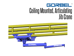 Ceiling mounted articulating jib cranes can be stationary mounted; this allows usage outside the normal coverage of a bridge crane or the jib to swing under obstructions.