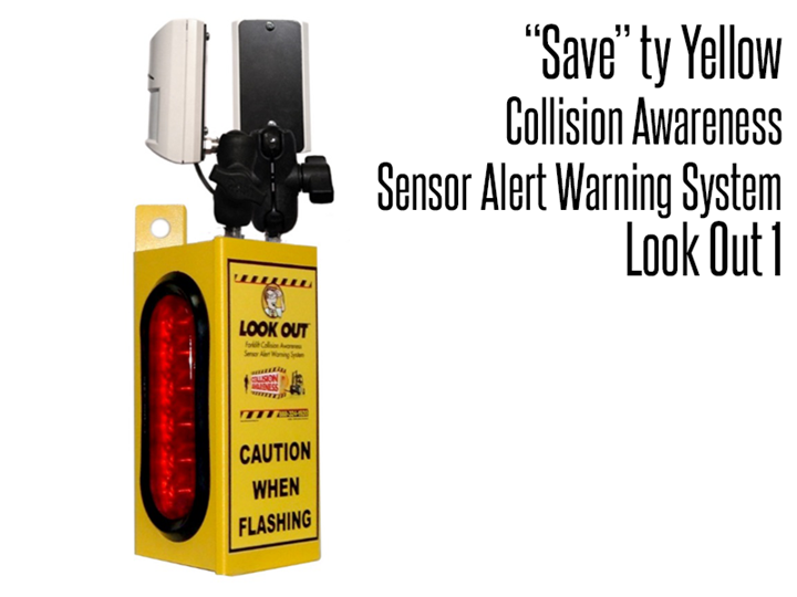 "Collision Awareness Sensor Alert Warning System ""Save""Ty Yellow Products alert forklift drivers and pedestrians to potentially hazardous locations and situations"