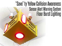Look Out Floor Burst Illustration Collision Awareness Sensor Alert Warning System