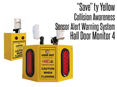 Hall Door Monitor 4, Collision Awareness Sensor Alert Warning System