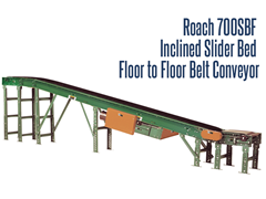 Picture for Inclined Slider Bed Floor-to-Floor Belt Conveyor, Roach Model 700SBF