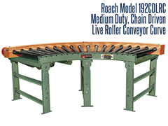 Picture for Medium Duty Chain Driven Live Roller Curve Conveyor, Roach Model 192CDLRC