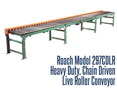 Picture for Heavy Duty Chain Driven Live Roller Conveyor, Roach Model 297CDLR