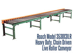 Picture for Heavy Duty Chain Driven Live Roller Conveyor, Roach Model 3530CDLR