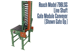 Line Shaft Gate Module Roach Model 796LSG Shown with Gate Up