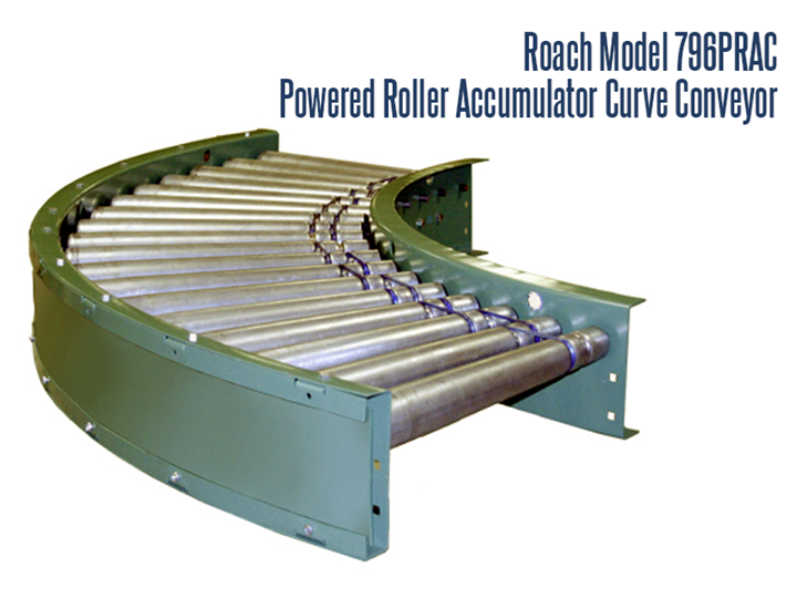 Curved Power Roller Accumulation Conveyor with Motorized Rollers