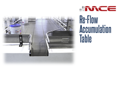 Re-Flow Stainless Steel Accumulation Table