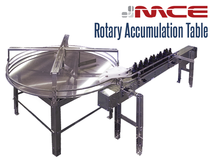 Stainless Steel rotary accumulation tables are used to accumulate, orientate and sort products. Turntables are ideal for use in packaging, processing, and assembly in food processing and manufacturing applications.