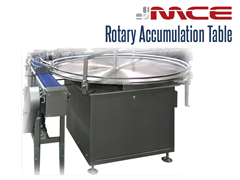 Stainless steel rotary accumulation table by Modular Conveyor Express