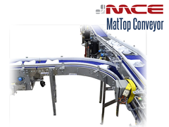 MCE Stainless Steel MatTop Line Configuration Conveyor