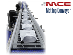MCE Stainless Steel Friction Top Conveyor with Pouches