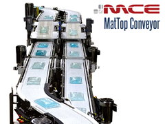 MCE Stainless Steel MatTop Conveyor with Height Change Configuration