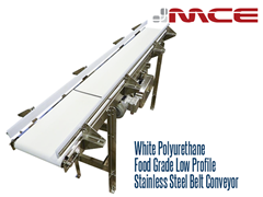 Stainless Steel Flat Belt Conveyors are ideal for conveying product to fillers, cappers, labelers, and robots where accurate product spacing, orientation, accumulation and stability is required.