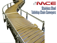 Picture for Stainless Steel Tabletop Chain Conveyor