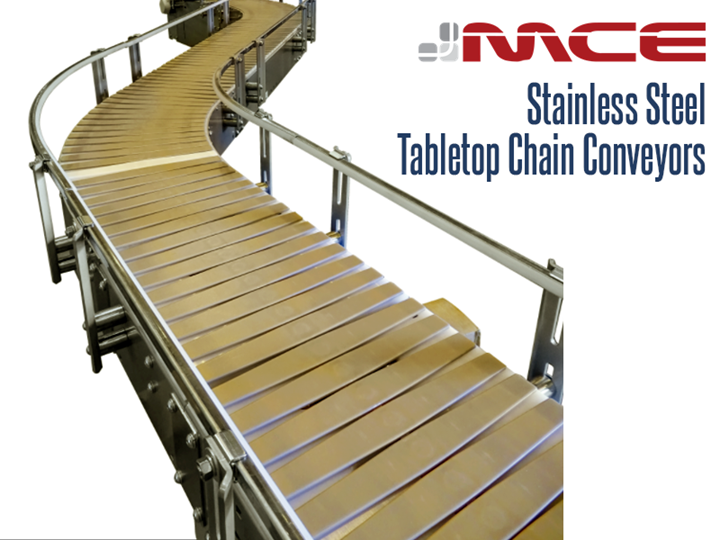 Stainless Steel Conveyor Table top conveyors convey plastic, glass bottles, cans and pouches.