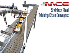 Stainless Steel Table top Conveyor with Diverting Rail