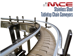 Stainless Steel Table top Conveyor Curve