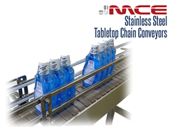 Stainless Steel Tabletop Conveyor for an automated filling lines in the food industry