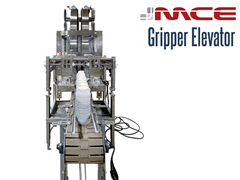 A Vertical Lift Gripper Handling Plastic Bottles