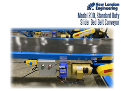 The Model 200 Standard Duty, Roller Bed Belt Conveyor provides low maintenance operation for shorter and light duty production and packaging operations.