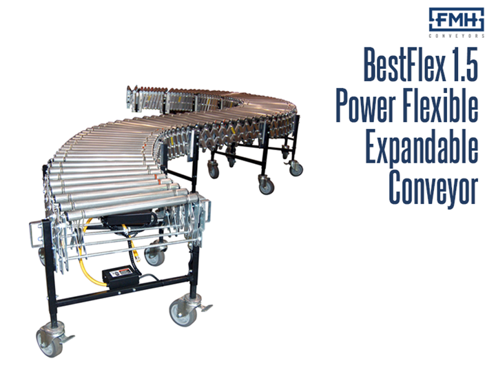 BestFlex 1.5 Powered Roller Conveyor is a flexible, portable, expandable conveyor used in shipping and receiving areas.