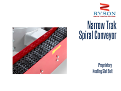 Ryson Narrow Trak Spiral Conveyor Proprietary Nesting Slat Belt