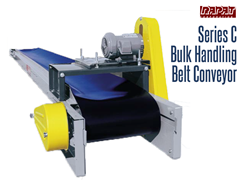 Rapat Bulk Handling Series C Conveyor conveys all materials gently, eliminating loss due to cracking, grinding and crushing. Typical materials conveyed on this conveyor include grain, corn, seed, beans, fertilizer, recyclables, wood chips, sand and nearly any bulk material