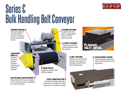 The Rapat Series C Bulk Handling Conveyor has an open bed design which reduces friction and prevents dust buildup.