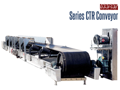 Rapat Series CTR  Bulk Handling Conveyor is an industrial duty channel frame conveyor with CEMA troughing idlers designed to handle the toughest applications.