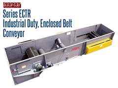 Rapat Series ECTR Bulk Handling enclosed conveyors are ideal for any application where environmental control is required.
