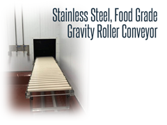 Stainless Steel, Food Grade Gravity Roller Conveyor