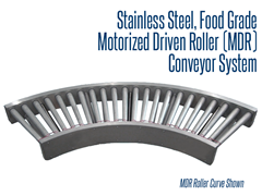 Picture for Food Grade Stainless Steel Motorized Driven Roller (MDR) Conveyor System