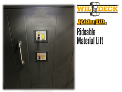 Riderlift™ RML Rideable Material Lift, Close Up of Interior Panel