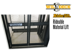 Riderlift™ RML Rideable Material Lift, View of Cage Floor