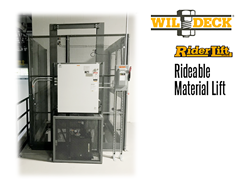 Riderlift™ RML Rideable Material Lift, View of Exterior Control Panel