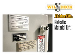 Riderlift™ RML Rideable Material Lift, View of Key Locked Floor Level Station