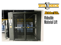 Riderlift™ RML Rideable Material Lift, Exterior View