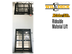 Riderlift™ RML Rideable Material Lift, View of Lower and Second Levels